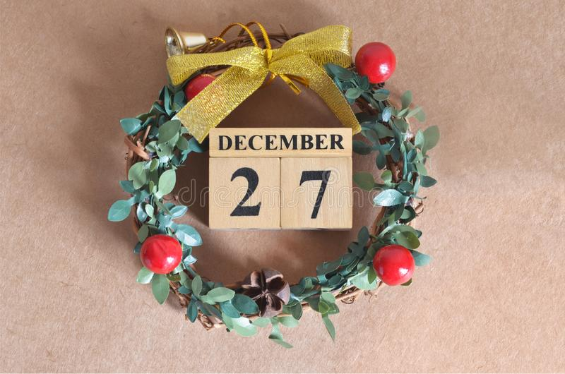 December 27. Date of December month. royalty free stock images