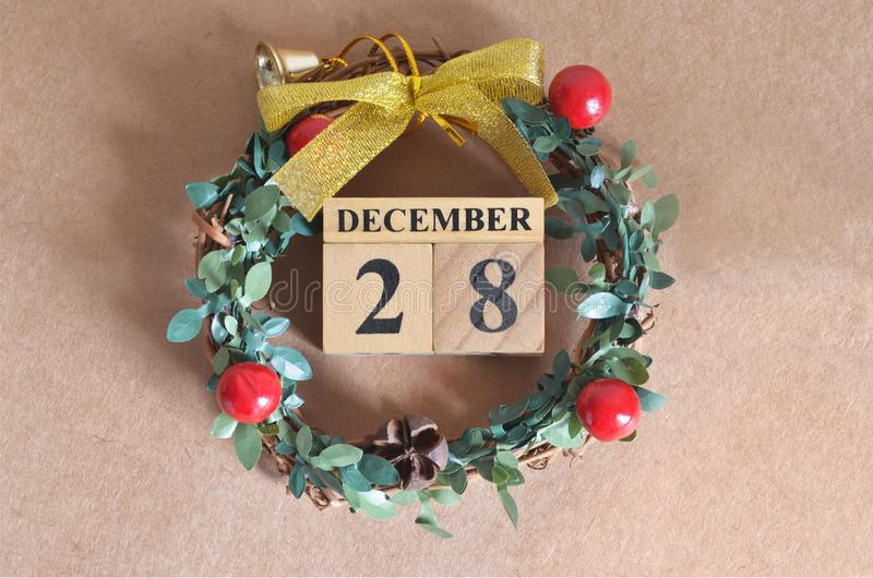 December 28. Date of December month. royalty free stock image