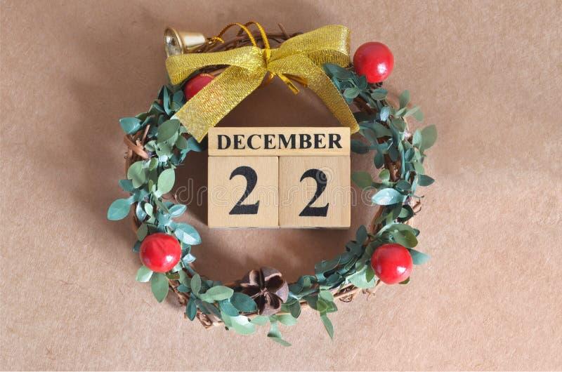 December 22. Date of December month. stock photos