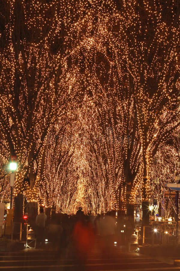december festival illumination sendai στοκ φωτογραφίες