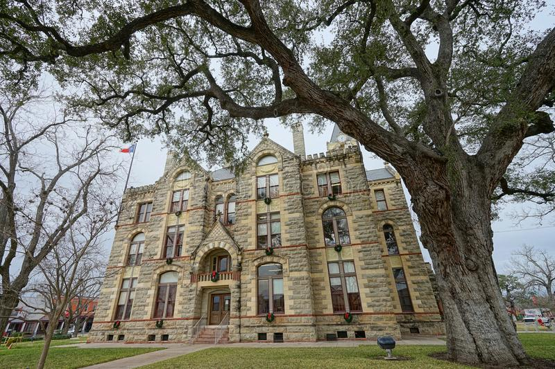 Courthouse in La Grange Texas. December 30, 2015 La Grange, Texas, USA: Fayette County Courthouse in the historic center of the town royalty free stock photo