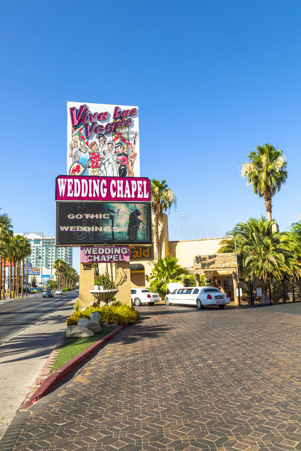 DECEMBER 2004 - Little White. LAS VEGAS - JUNE 15: Wedding Chapel on June 15, 2012 in Las Vegas, USA. They offer a 24 hour service and gothic Weddings stock image