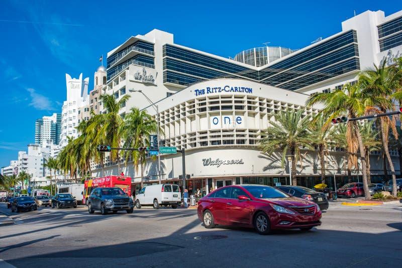 The Ritz-Carlton in Miami Beach, Florida stock images