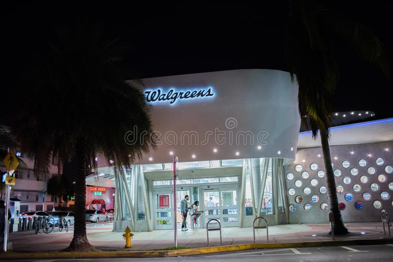 Walgreens store in Miami Beach, Florida. royalty free stock images