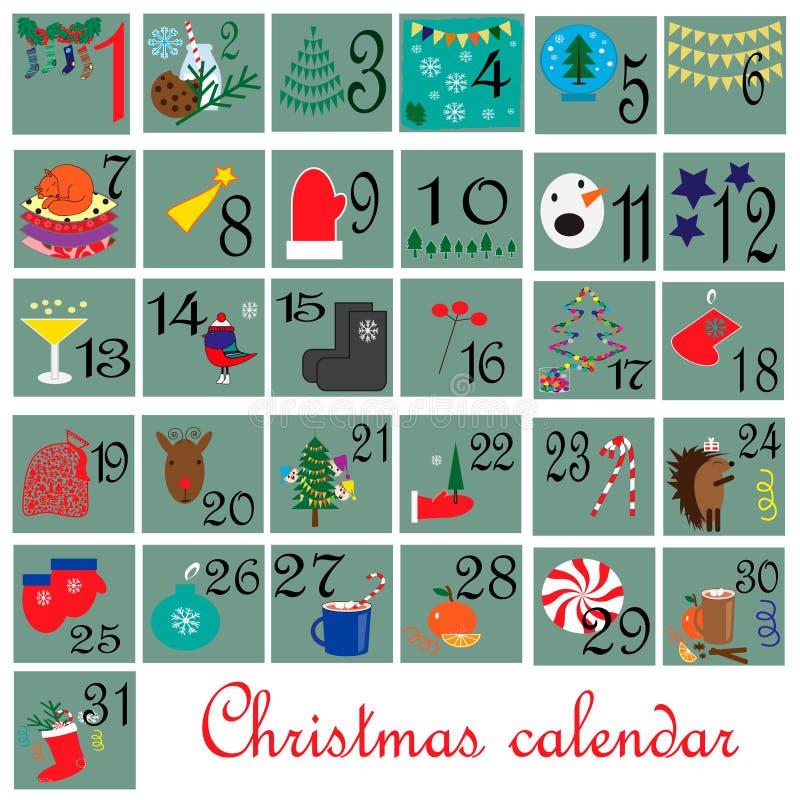 Download December month. Calendar. stock vector. Illustration of mittens - 59997744