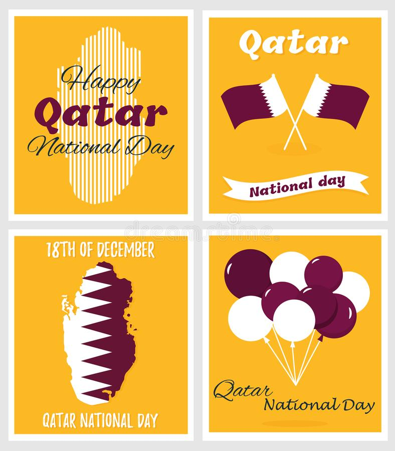Download 18 December. Qatar National Day Card Stock Vector - Illustration of greeting, graphic: 105020622