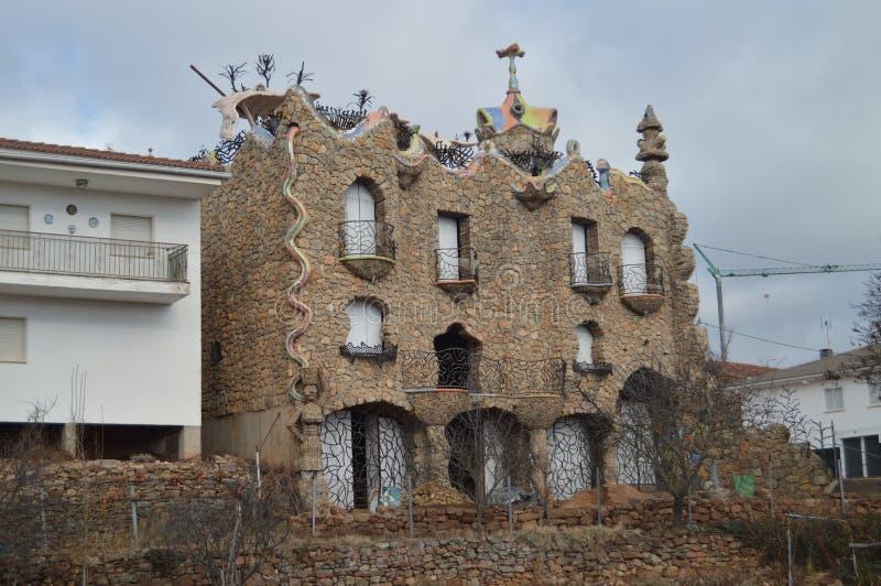 December 29, 2013. Rillo De Gallo. Guadalajara, Castilla La Mancha, Spain. El Capricho Rillano Gaudiano Style Modernist Building. History, Travel, Nature stock image