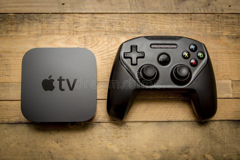 December 11, 2015 Toronto Ontario, Kanada Den nya Apple TV:N 4t fotografering för bildbyråer