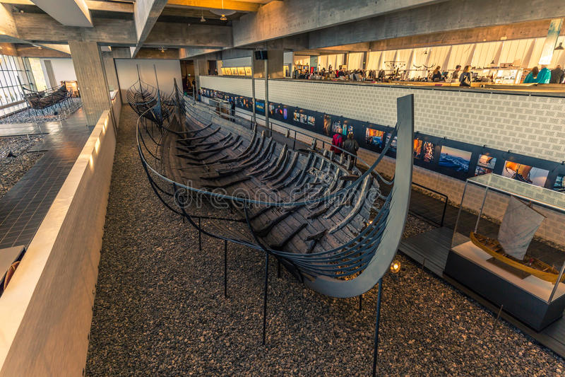 December 04, 2016: Treasure of the Viking Ship Museum of Roskilde, Denmark stock photography