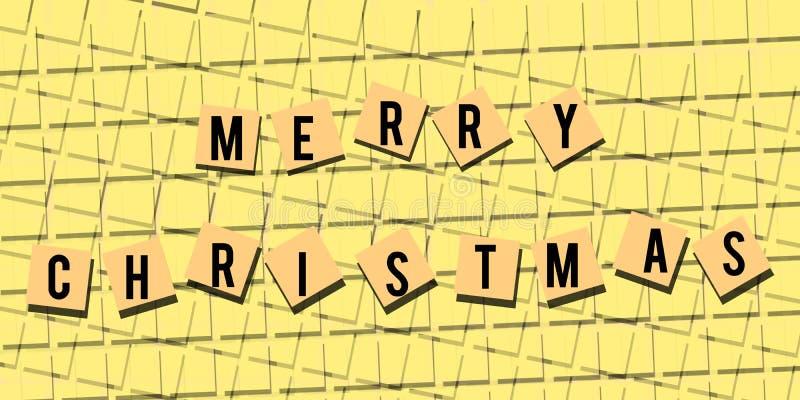 Decente case el papel pintado del fondo de la Navidad ilustración del vector