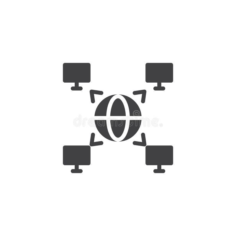 Decentraliserad databasvektorsymbol vektor illustrationer