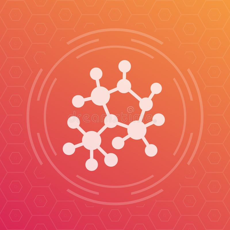 Decentralization, compound structure icon royalty free illustration