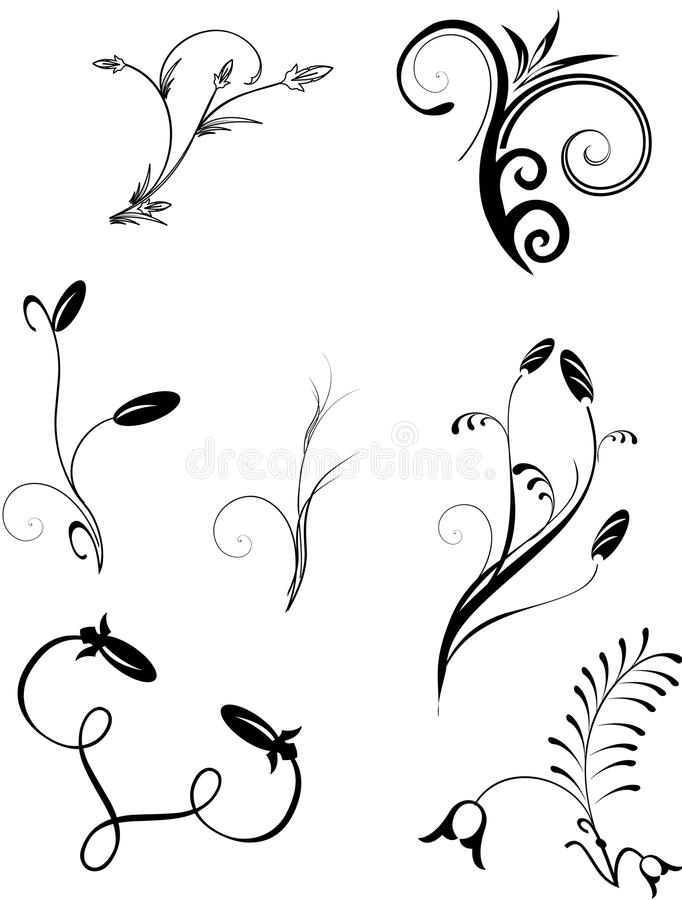 Download Deceorative ornaments stock illustration. Illustration of isolate - 21546486