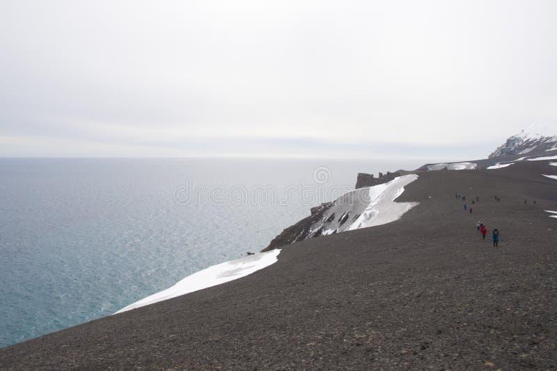 Deception island, Antarctic stock images