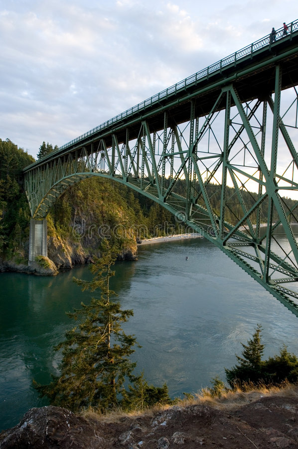 Deception Pass Bridge stock photo