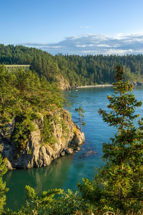 Deception Pass in Pacific Northwest stock image
