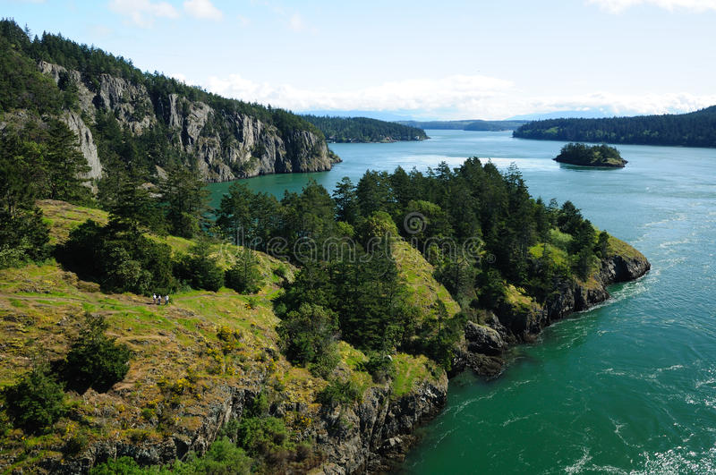 Deception pass state park royalty free stock photo
