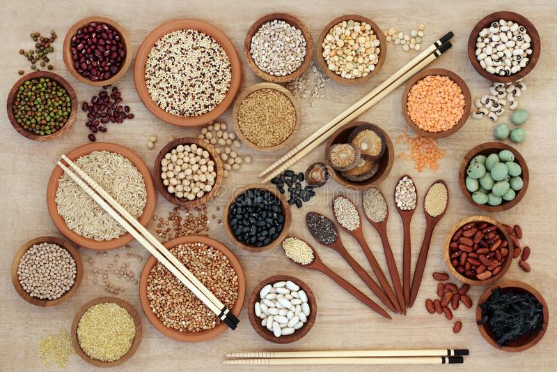 Dechado sano macrobiótico de la comida fotos de archivo libres de regalías