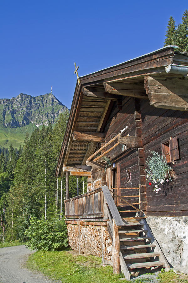 Download Dechant hut in Tyrol stock image. Image of mountains - 25789455