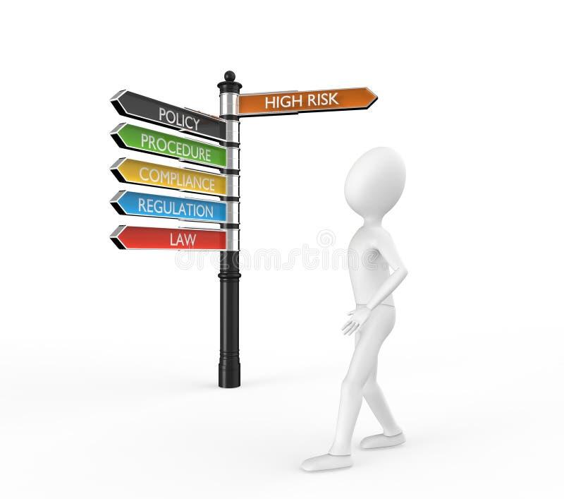 Download Deciding To Leave Risk Behind Stock Illustration - Illustration: 28686707
