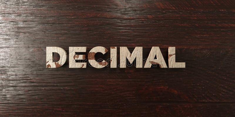 Decimal - grungy trärubrik på lönn - 3D framförd fri materielbild för royalty stock illustrationer