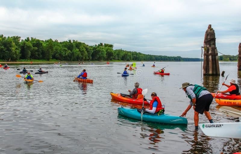 decimo funzionamento annuale del fiume di Henry-Lacon-Chillicothe fotografia stock libera da diritti