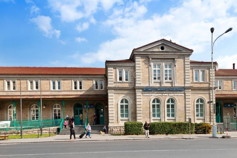 railway station, town Decin, North Bohemia, Czech republic royalty free stock image