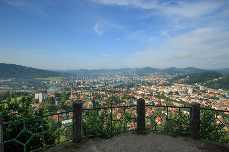 DECIN, CZECH REPUBLIC. Decin town, North Bohemia, Czech republic royalty free stock photography