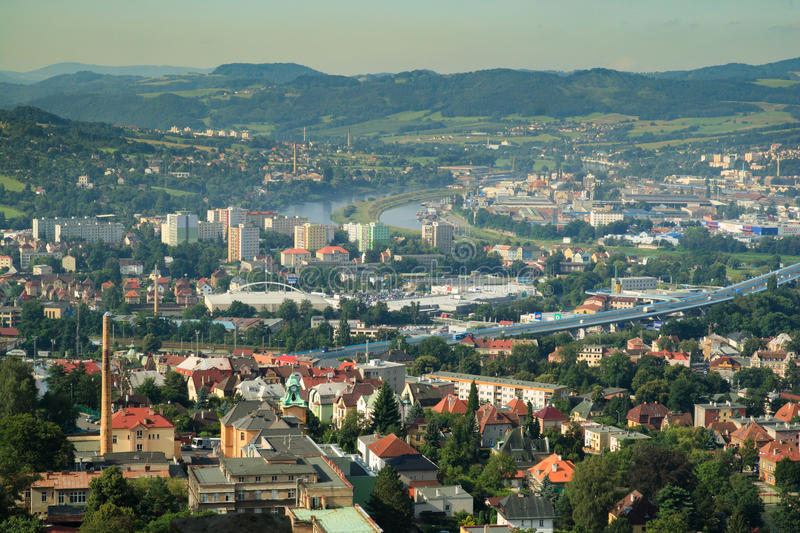 DECIN, CZECH REPUBLIC. Decin town, North Bohemia, Czech republic stock photos