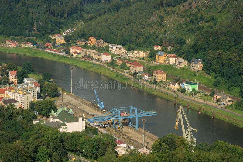 DECIN, CZECH REPUBLIC. Decin town, North Bohemia, Czech republic stock image
