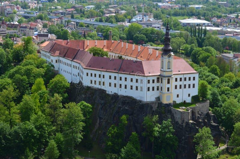 Decin-Schloss, Tschechische Republik lizenzfreie stockfotos