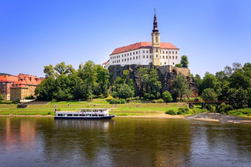 Decin tjeckisk republik royaltyfri bild