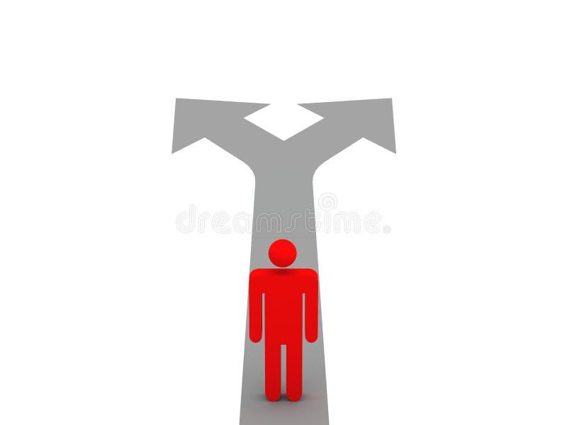Decisão ilustração royalty free
