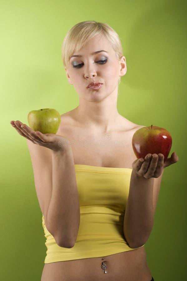 A decisão da maçã fotos de stock