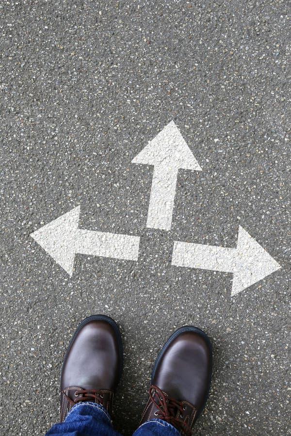 A decisão decide o trabalho de trabalho da solução do sucesso dos objetivos do conceito do negócio imagem de stock royalty free
