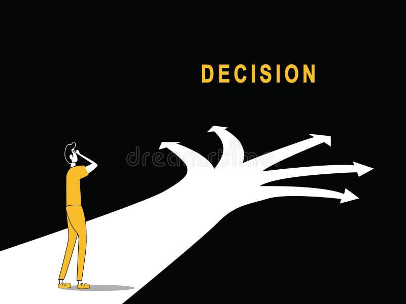 Decisão a mover-se no trajeto ilustração stock