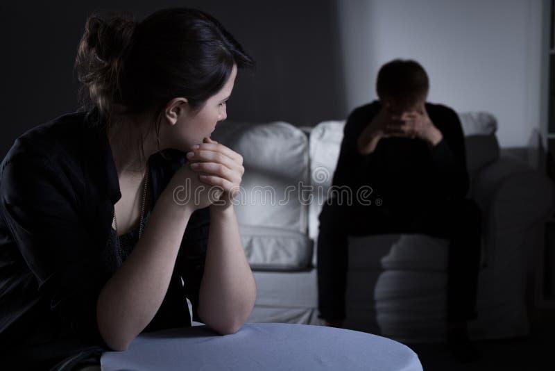 Decisão sobre o divórcio foto de stock