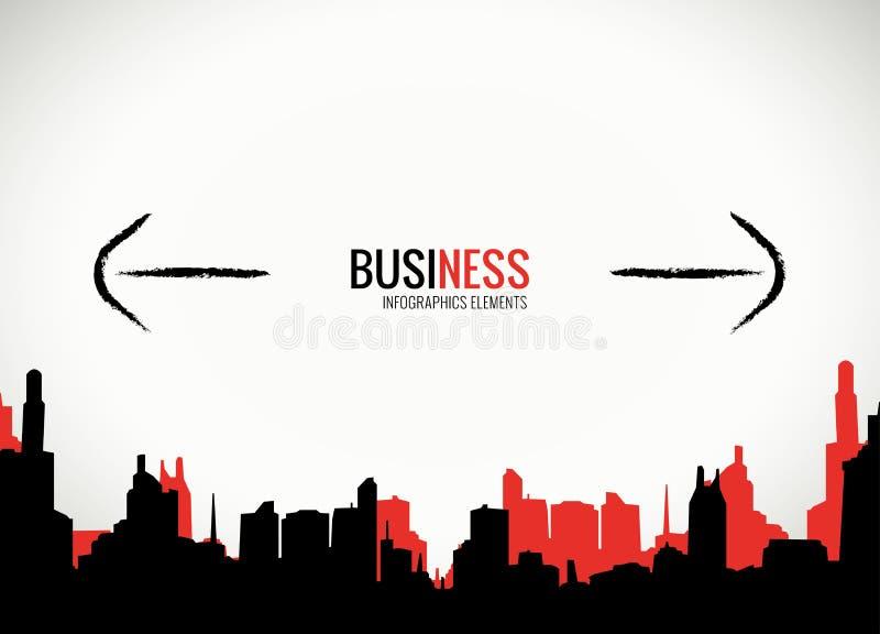 Decisões empresariais e molde da expansão ilustração royalty free