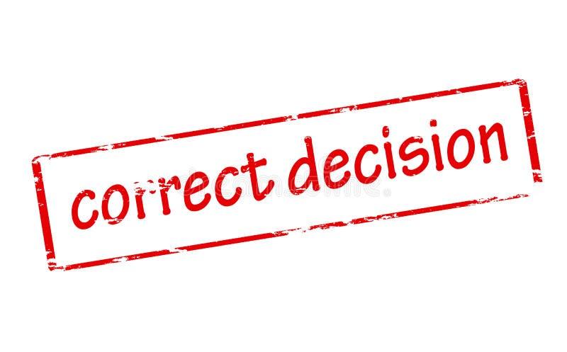 Decisión correcta ilustración del vector