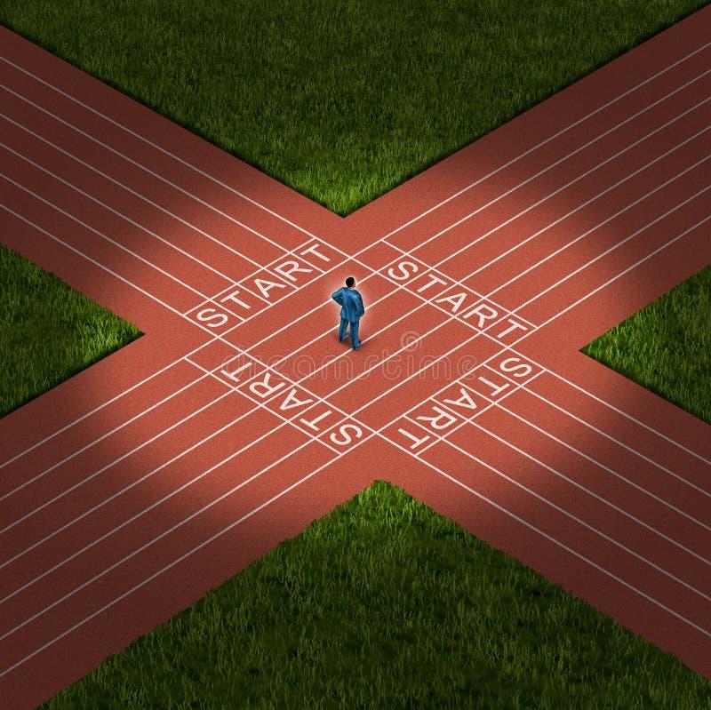 Decisión de la carrera stock de ilustración