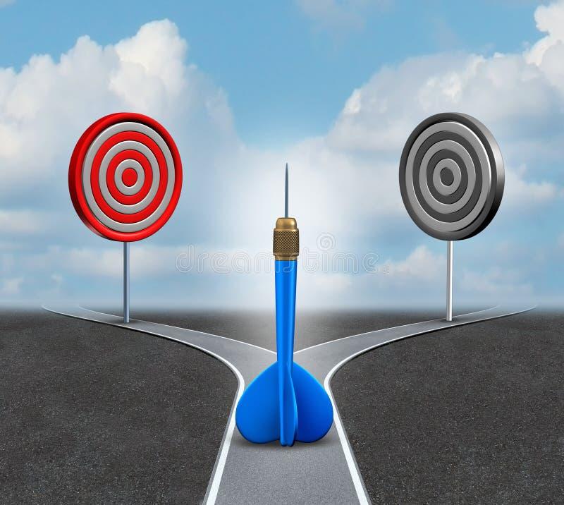 Decisión de la estrategia stock de ilustración