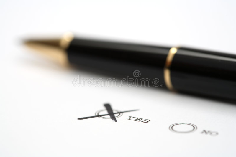 Download Decision stock image. Image of pencil, mark, decision - 1872963