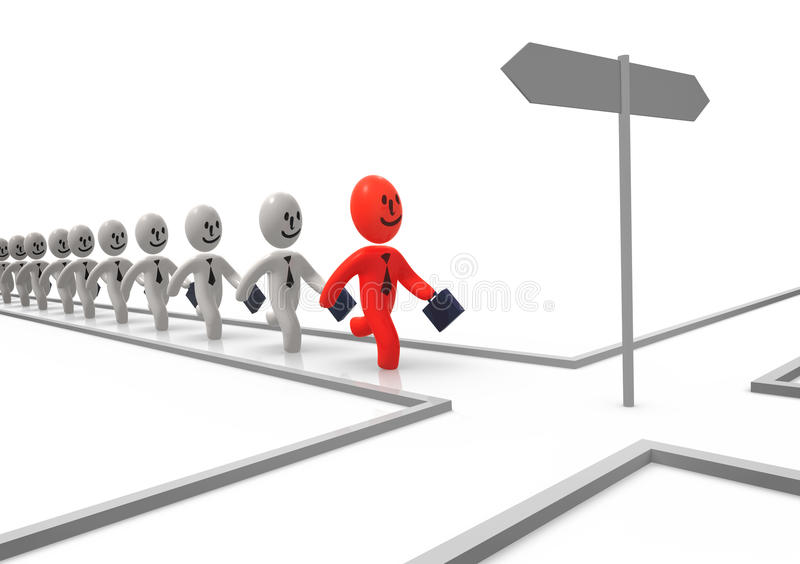 Download Decision stock illustration. Image of running, sign, crossroad - 23239190