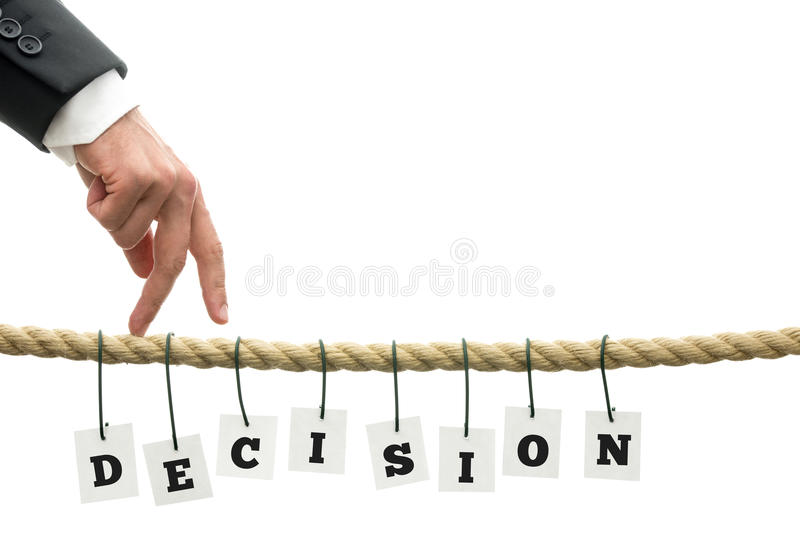 Decision stock images