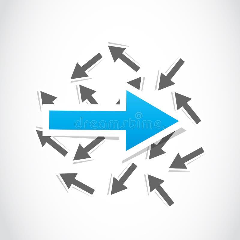 Decision, choice arrow stock illustration