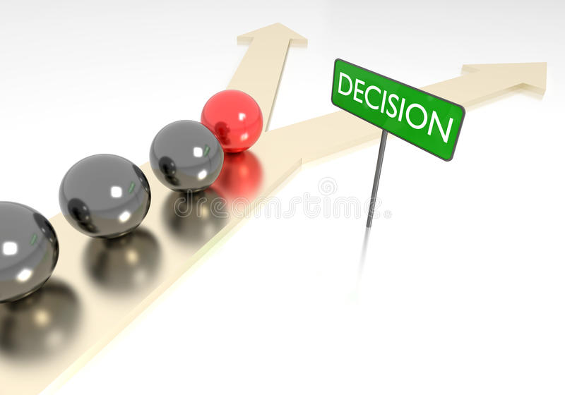 Decision concept royalty free stock photos