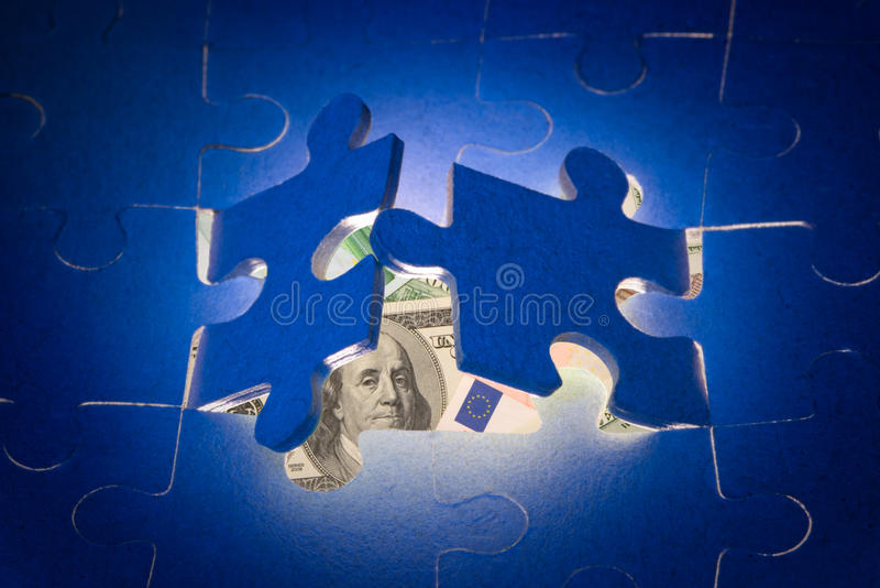 The decision of financial problems. stock image