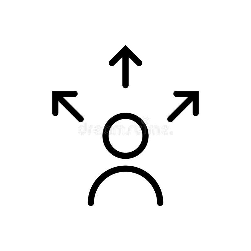 Decision icon, vector illustration. On white background royalty free illustration