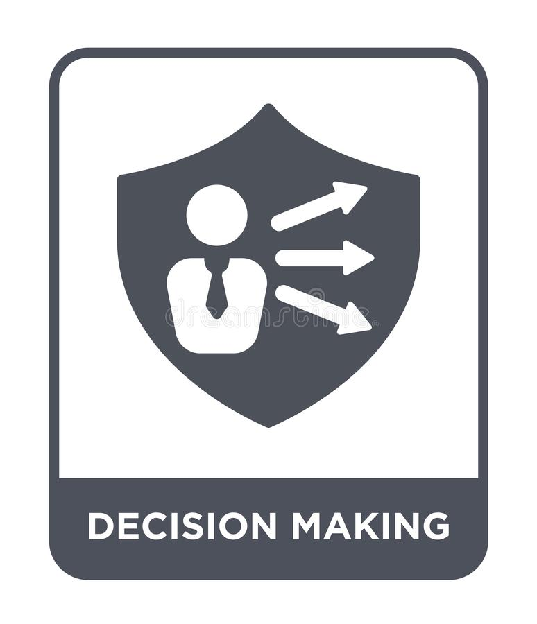 decision making icon in trendy design style. decision making icon isolated on white background. decision making vector icon simple royalty free illustration