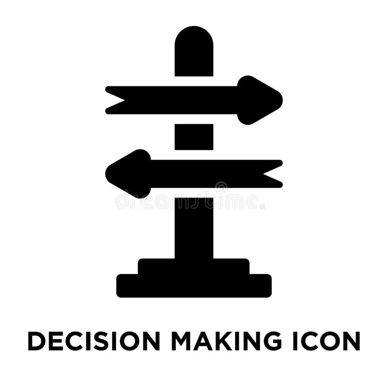 Decision making icon vector isolated on white background, logo c stock illustration